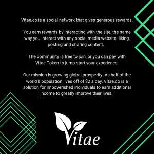 vitae.co social rewards network